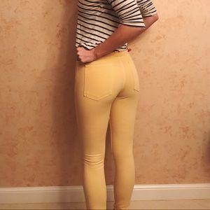American Apparel Yellow Skinnies